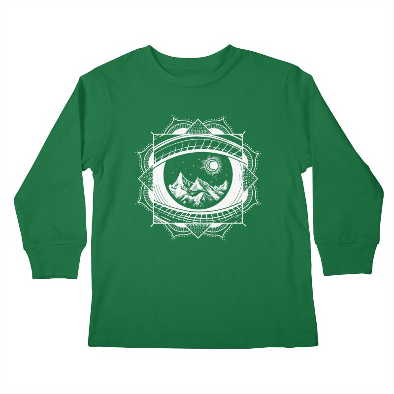 Himalayan Mandala Dream Kids Longsleeve T-Shirt by MackStudios's Artist Shop