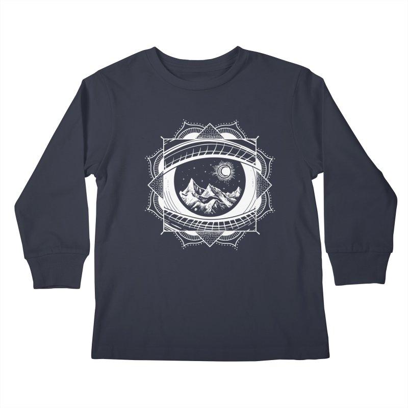 Himalayan Mandala Dream Kids Longsleeve T-Shirt by MackStudios's Artist Shop