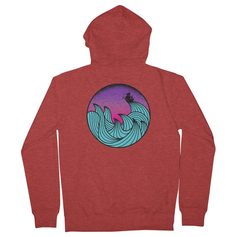 Los At Sea Full Color Women's French Terry Zip-Up Hoody by MackStudios's Artist Shop