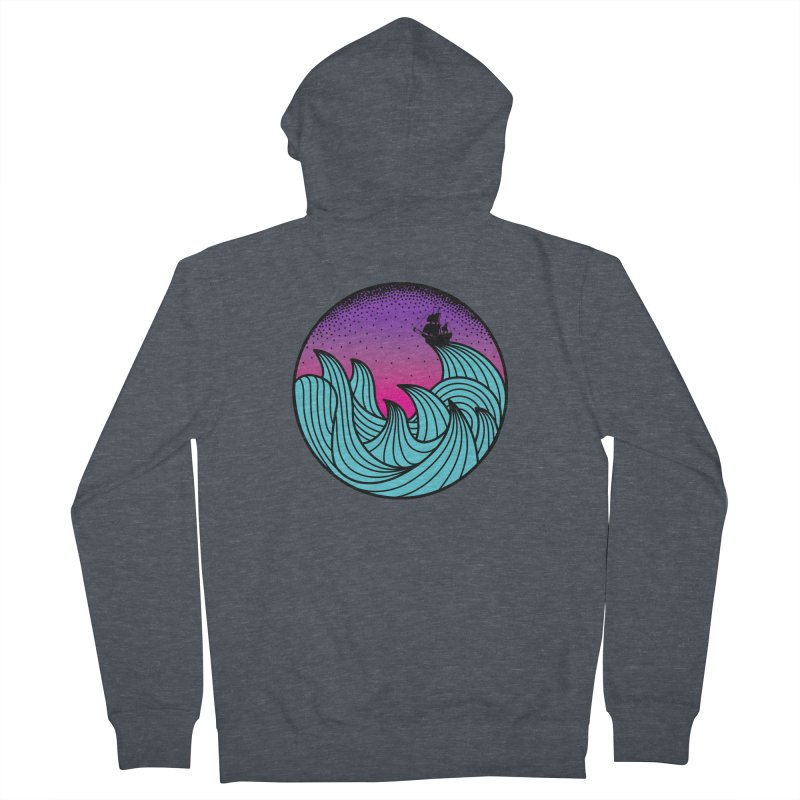 Los At Sea Full Color Men's Zip-Up Hoody by MackStudios's Artist Shop