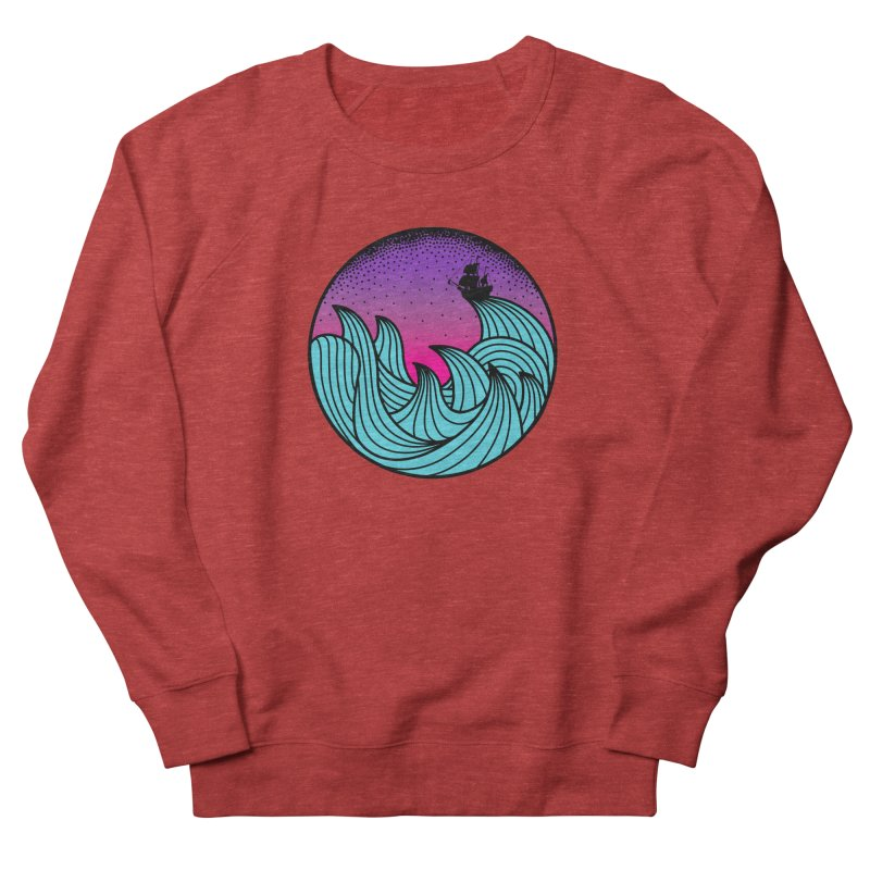 Los At Sea Full Color Men's French Terry Sweatshirt by MackStudios's Artist Shop