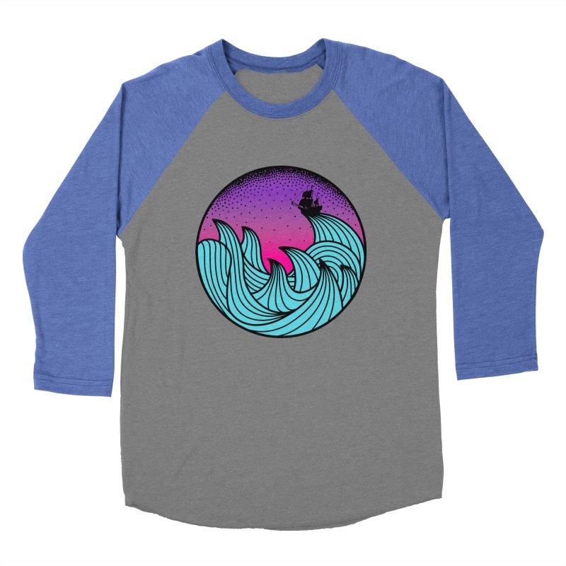 Los At Sea Full Color Men's Baseball Triblend T-Shirt by MackStudios's Artist Shop