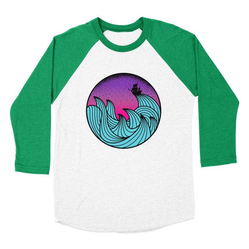 Los At Sea Full Color Men's Baseball Triblend Longsleeve T-Shirt by MackStudios's Artist Shop