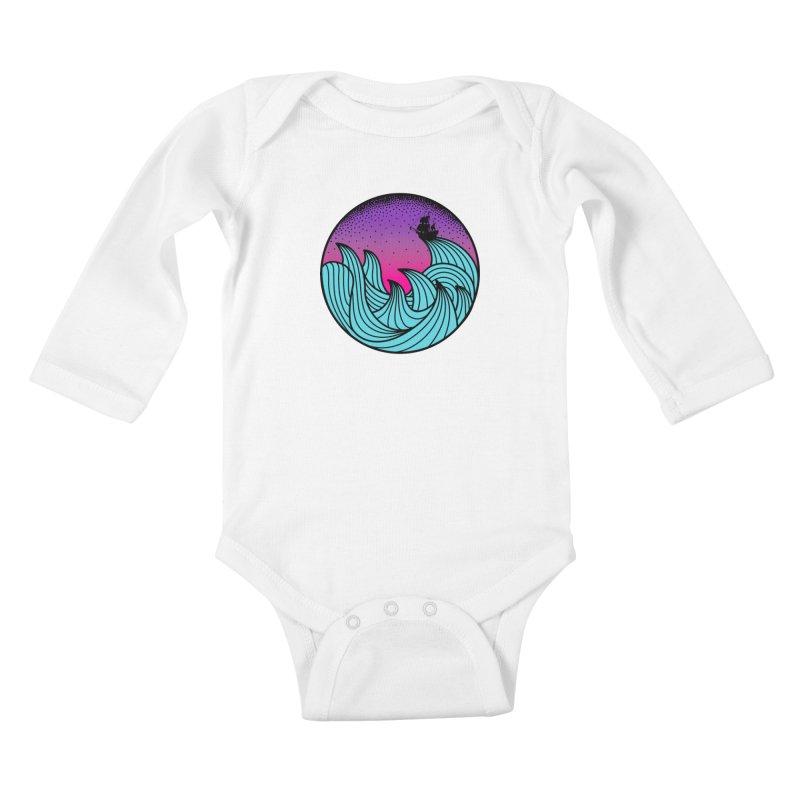 Los At Sea Full Color Kids Baby Longsleeve Bodysuit by MackStudios's Artist Shop
