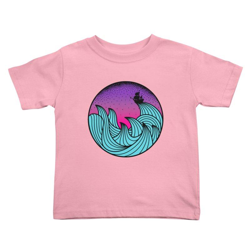 Los At Sea Full Color Kids Toddler T-Shirt by MackStudios's Artist Shop