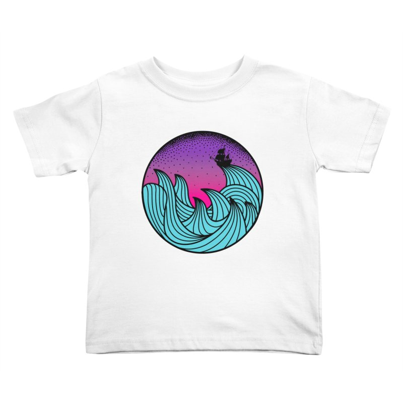Los At Sea Full Color Kids Toddler T-Shirt by MackStudios's Artist Shop