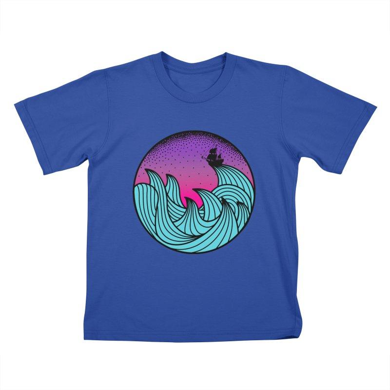 Los At Sea Full Color Kids T-Shirt by MackStudios's Artist Shop