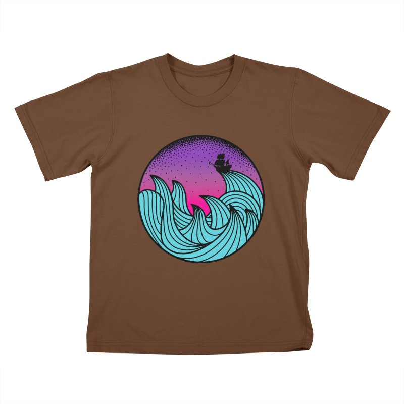 Los At Sea Full Color Kids T-Shirt by MackStudios's Artist Shop