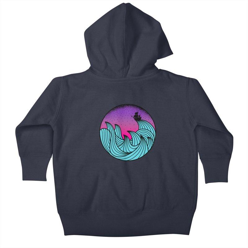 Los At Sea Full Color Kids Baby Zip-Up Hoody by MackStudios's Artist Shop
