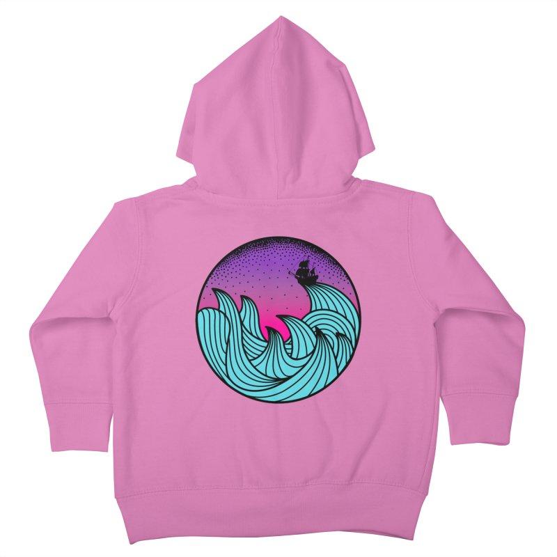 Los At Sea Full Color Kids Toddler Zip-Up Hoody by MackStudios's Artist Shop