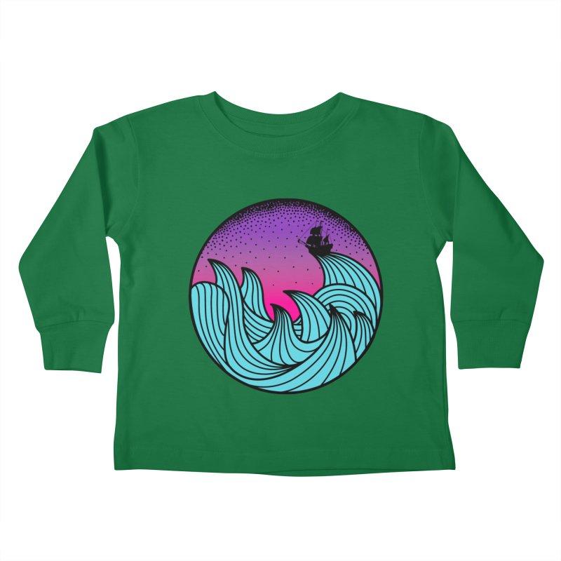 Los At Sea Full Color Kids Toddler Longsleeve T-Shirt by MackStudios's Artist Shop