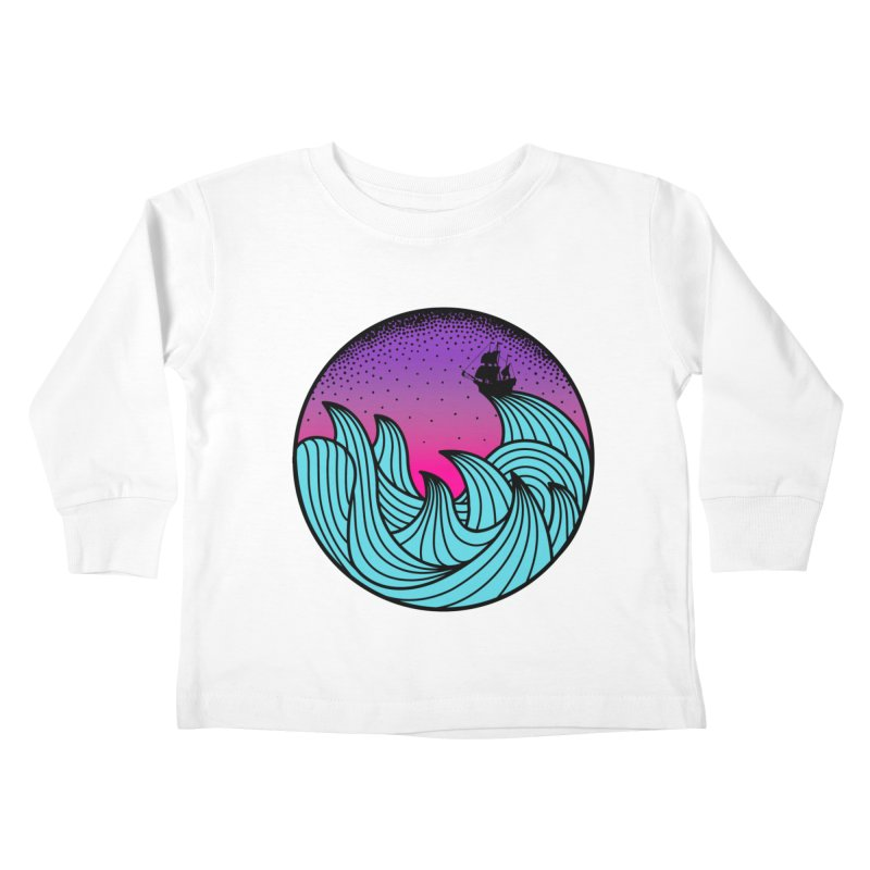 Los At Sea Full Color Kids Toddler Longsleeve T-Shirt by MackStudios's Artist Shop