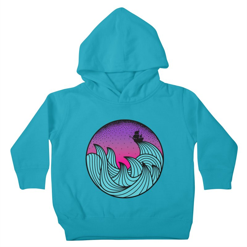Los At Sea Full Color Kids Toddler Pullover Hoody by MackStudios's Artist Shop