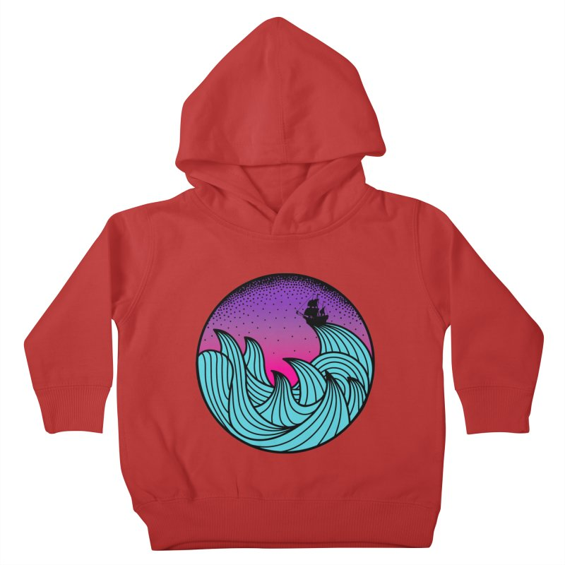 Los At Sea Full Color Kids Toddler Pullover Hoody by MackStudios's Artist Shop