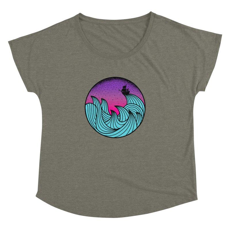 Los At Sea Full Color Women's Dolman Scoop Neck by MackStudios's Artist Shop