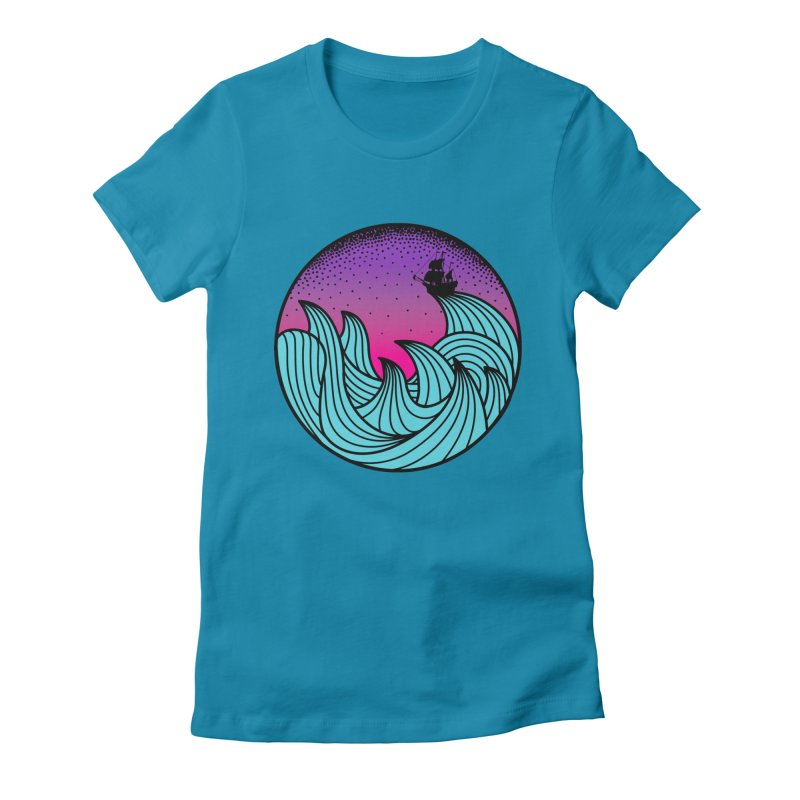 Los At Sea Full Color Women's Fitted T-Shirt by MackStudios's Artist Shop