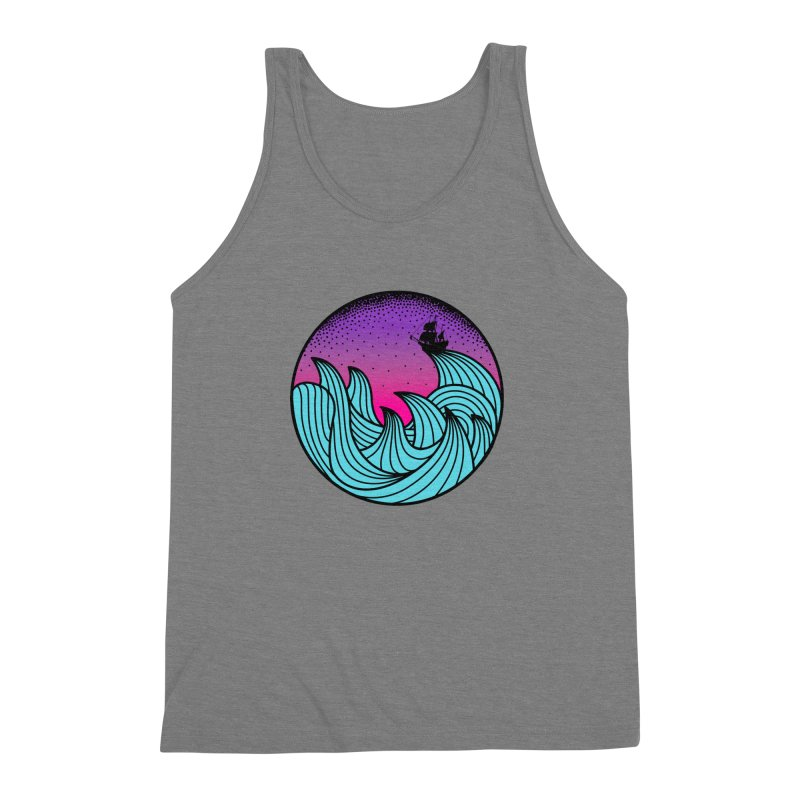 Los At Sea Full Color Men's Triblend Tank by MackStudios's Artist Shop