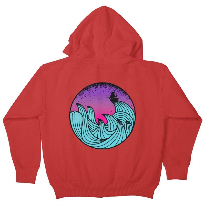 Los At Sea Full Color Kids Zip-Up Hoody by MackStudios's Artist Shop