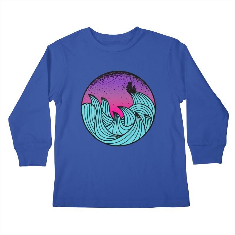 Los At Sea Full Color Kids Longsleeve T-Shirt by MackStudios's Artist Shop