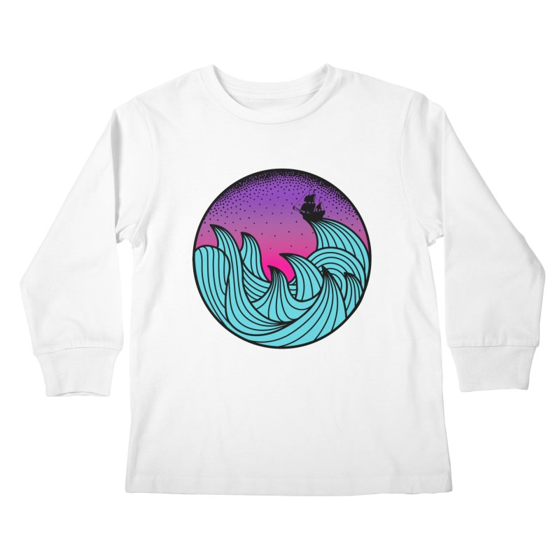 Los At Sea Full Color Kids Longsleeve T-Shirt by MackStudios's Artist Shop