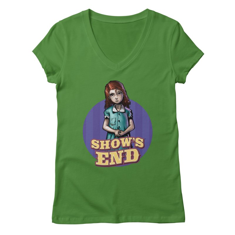 Show's End: Loralye Women's Regular V-Neck by Mad Cave Studios's Artist Shop
