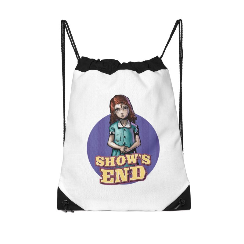 Show's End: Loralye Accessories Drawstring Bag Bag by Mad Cave Studios's Artist Shop