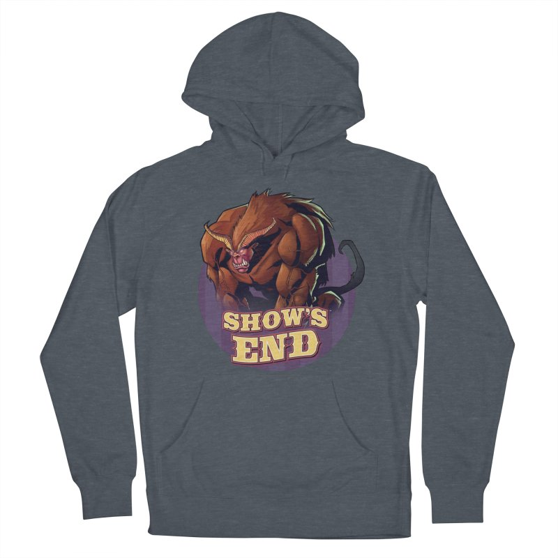 Show's End: Daemon Men's French Terry Pullover Hoody by Mad Cave Studios's Artist Shop