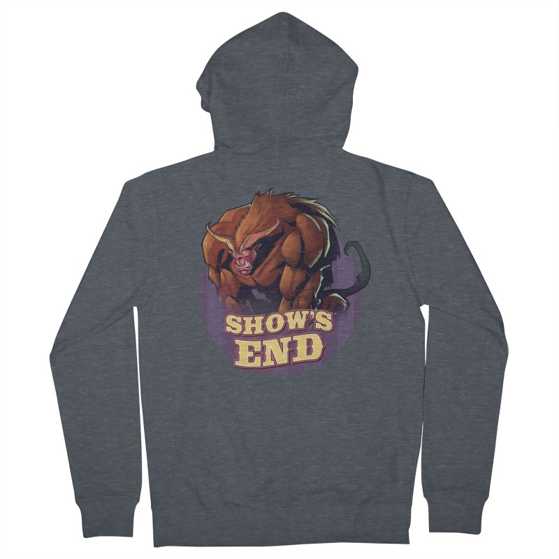 Show's End: Daemon Women's French Terry Zip-Up Hoody by Mad Cave Studios's Artist Shop