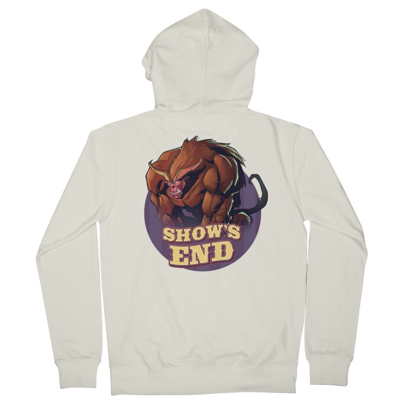 Show's End: Daemon Men's French Terry Zip-Up Hoody by Mad Cave Studios's Artist Shop