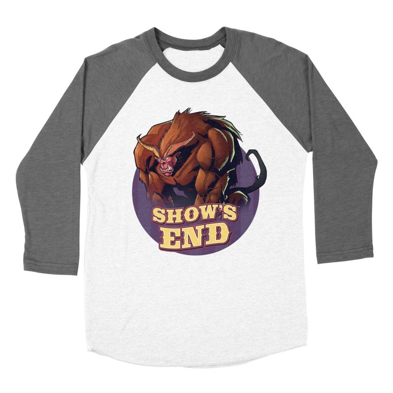 Show's End: Daemon Women's Baseball Triblend Longsleeve T-Shirt by Mad Cave Studios's Artist Shop