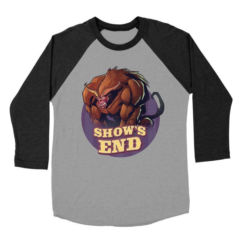 Show's End: Daemon Men's Baseball Triblend Longsleeve T-Shirt by Mad Cave Studios's Artist Shop