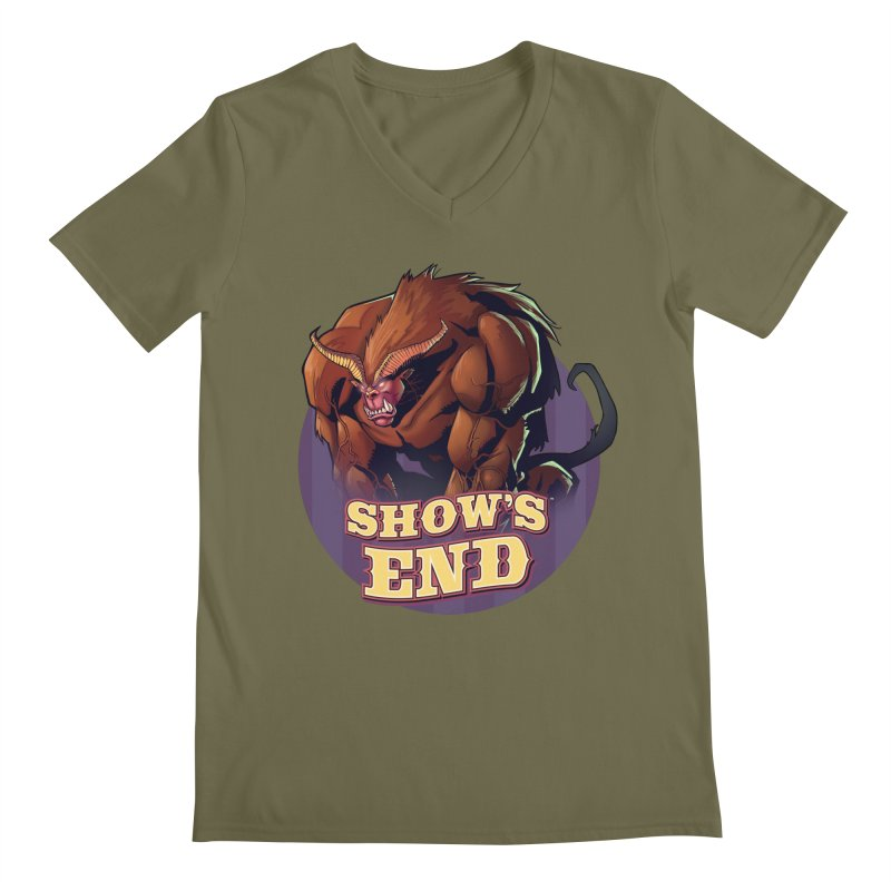 Show's End: Daemon Men's Regular V-Neck by Mad Cave Studios's Artist Shop