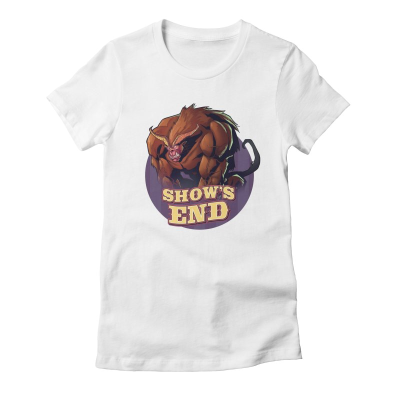 Show's End: Daemon Women's Fitted T-Shirt by Mad Cave Studios's Artist Shop