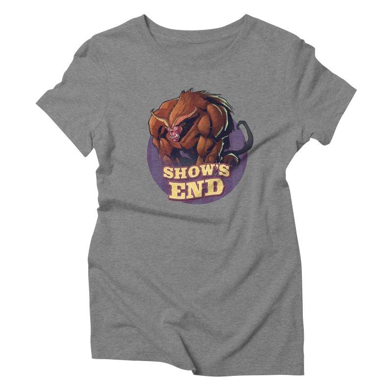 Show's End: Daemon Women's Triblend T-Shirt by Mad Cave Studios's Artist Shop