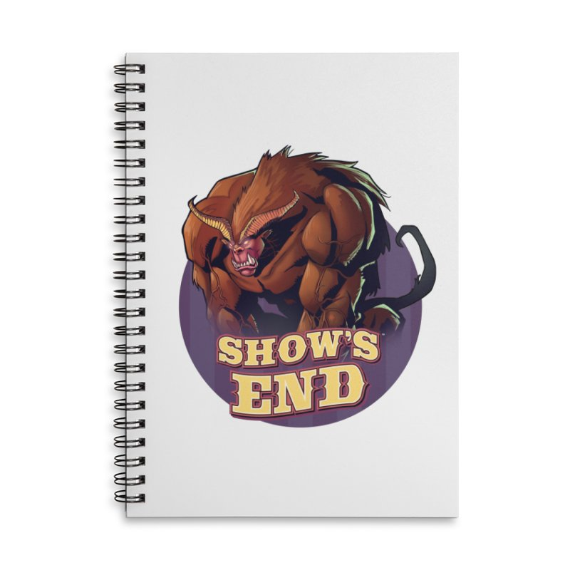 Show's End: Daemon Accessories Lined Spiral Notebook by Mad Cave Studios's Artist Shop
