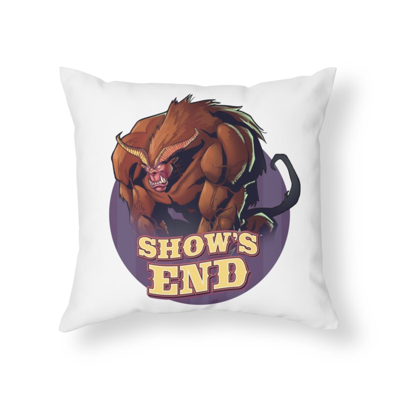 Show's End: Daemon Home Throw Pillow by Mad Cave Studios's Artist Shop