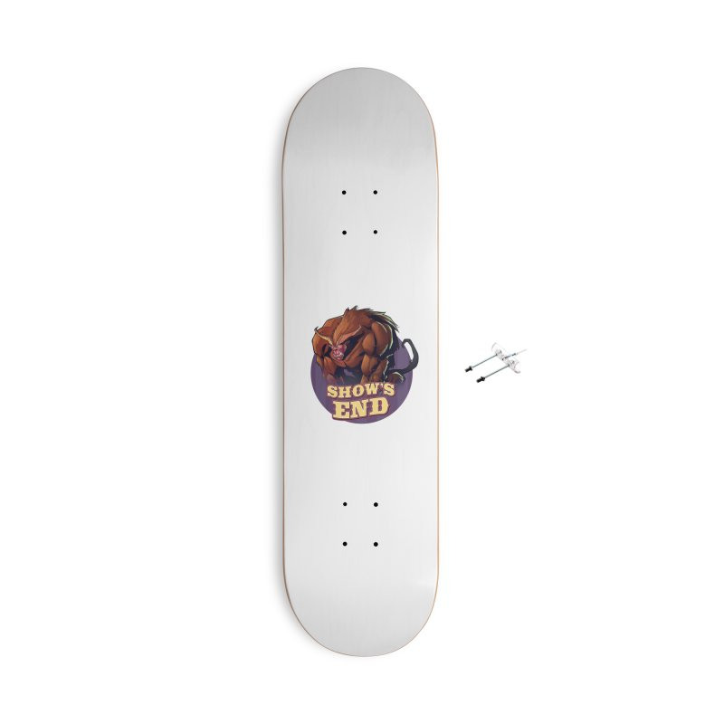Show's End: Daemon Accessories With Hanging Hardware Skateboard by Mad Cave Studios's Artist Shop