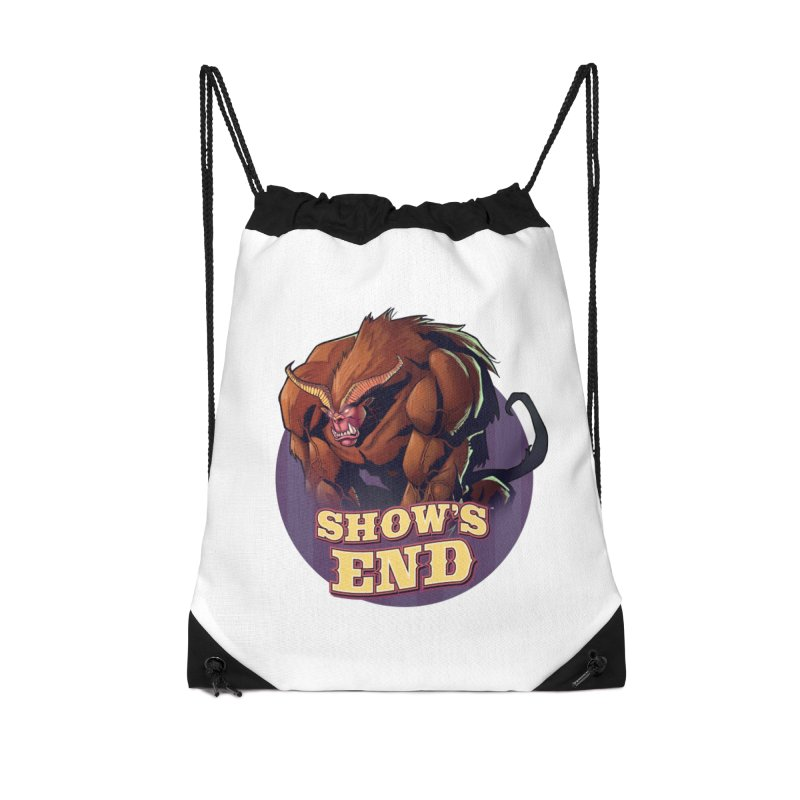 Show's End: Daemon Accessories Drawstring Bag Bag by Mad Cave Studios's Artist Shop
