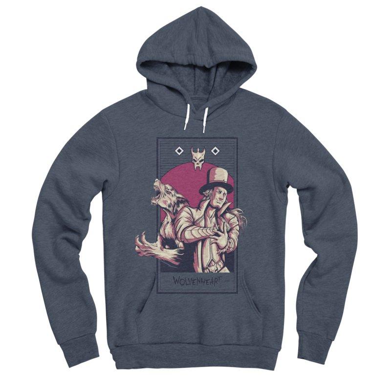 Wolvenheart - Two Wolves Men's Sponge Fleece Pullover Hoody by Mad Cave Studios's Artist Shop