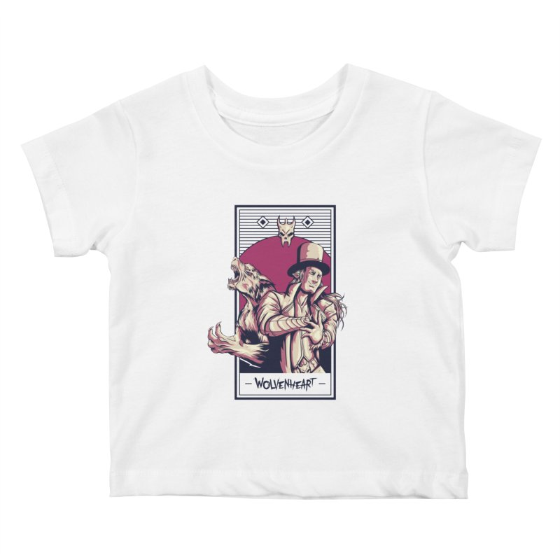 Wolvenheart - Two Wolves Kids Baby T-Shirt by Mad Cave Studios's Artist Shop