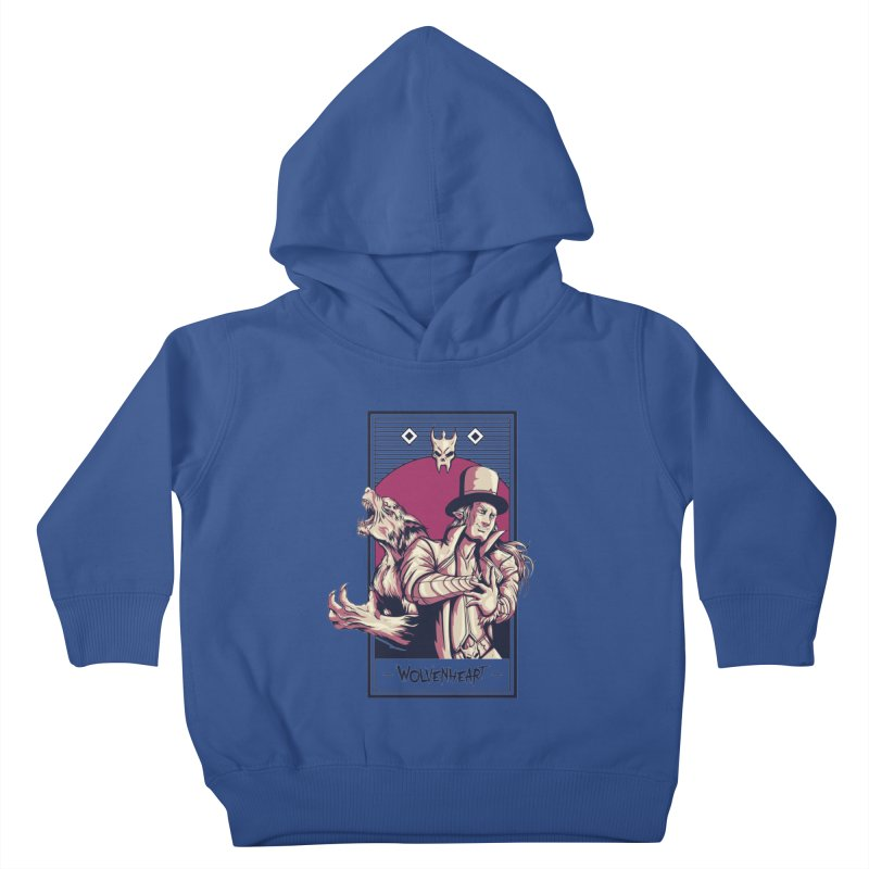 Wolvenheart - Two Wolves Kids Toddler Pullover Hoody by Mad Cave Studios's Artist Shop