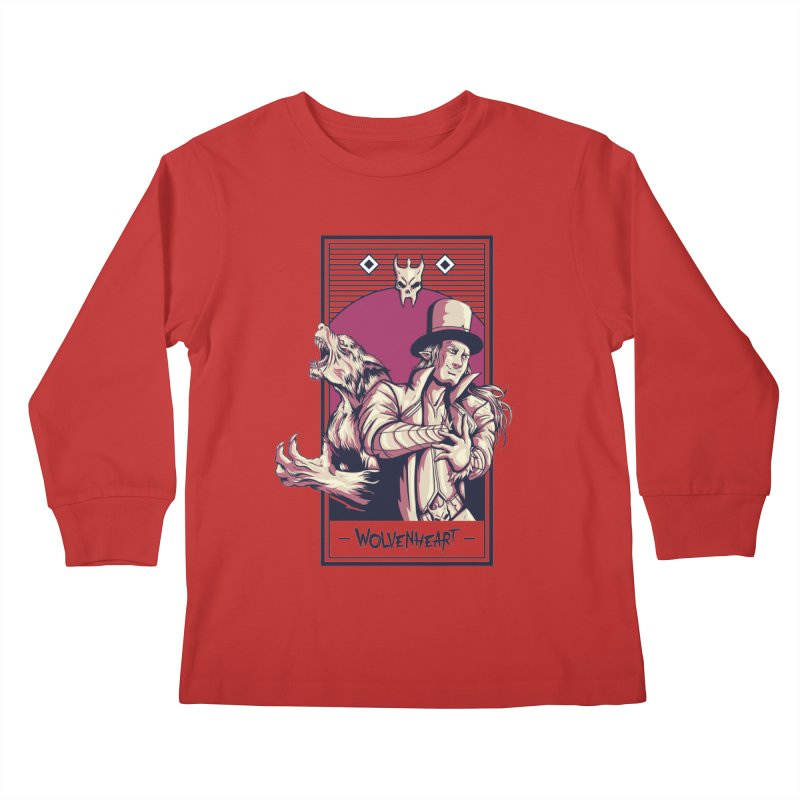 Wolvenheart - Two Wolves Kids Longsleeve T-Shirt by Mad Cave Studios's Artist Shop