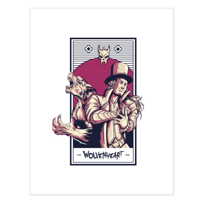 Wolvenheart - Two Wolves Home Fine Art Print by Mad Cave Studios's Artist Shop