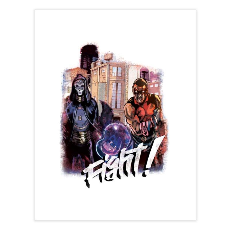 Hellfighter Quin - Doomseer Vs Quin Home Fine Art Print by Mad Cave Studios's Artist Shop