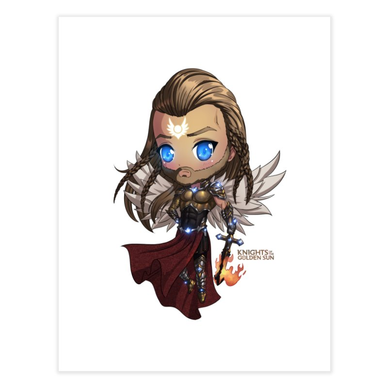 Chibi Michael - Knights of The Golden Sun Home Fine Art Print by Mad Cave Studios's Artist Shop
