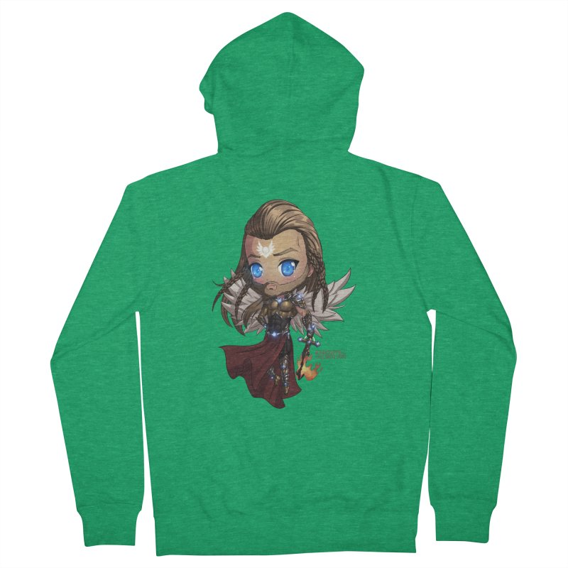Chibi Michael - Knights of The Golden Sun Men's Zip-Up Hoody by Mad Cave Studios's Artist Shop