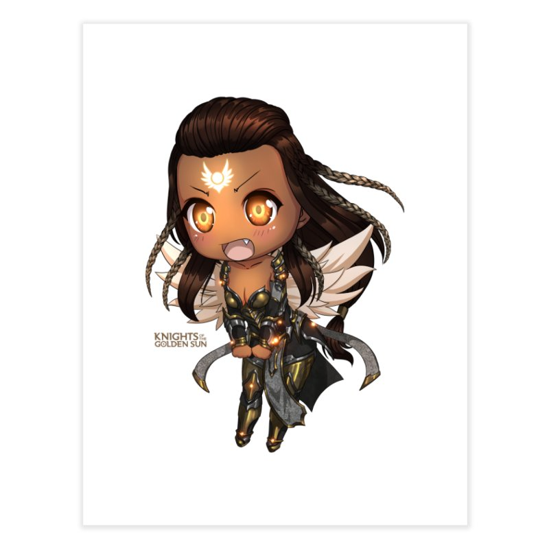 Chibi Gabriel - Knights of The Golden Sun Home Fine Art Print by Mad Cave Studios's Artist Shop