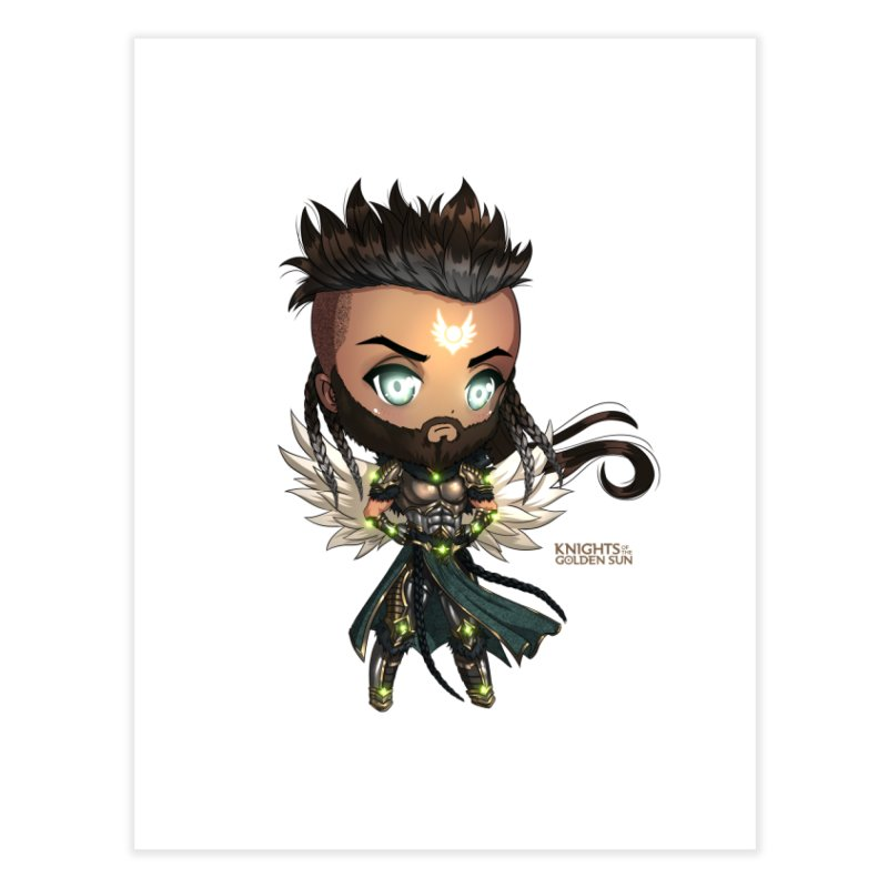 Chibi Raphael - Knights of The Golden Sun Home Fine Art Print by Mad Cave Studios's Artist Shop