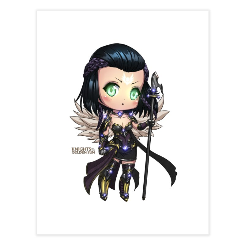 Chibi Uriel - Knights of The Golden Sun Home Fine Art Print by Mad Cave Studios's Artist Shop