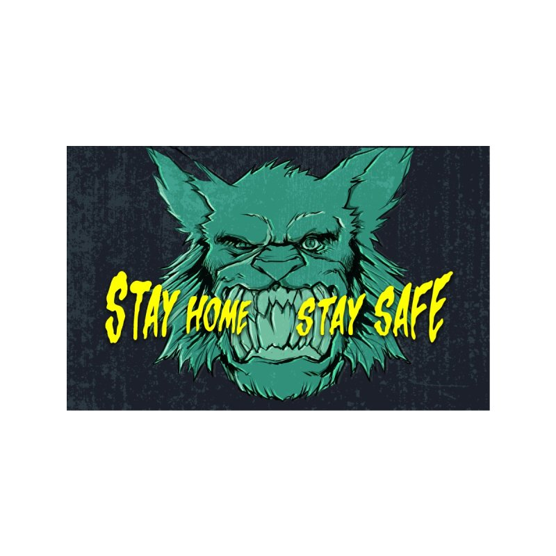 Stay Home. Stay Safe - Battlecats Accessories Face Mask by Mad Cave Studios's Artist Shop
